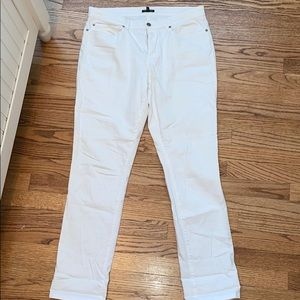 White Eileen Fisher Skinny Jeans